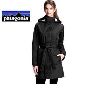 NEW Patagonia Torrentshell Black Trench Coat